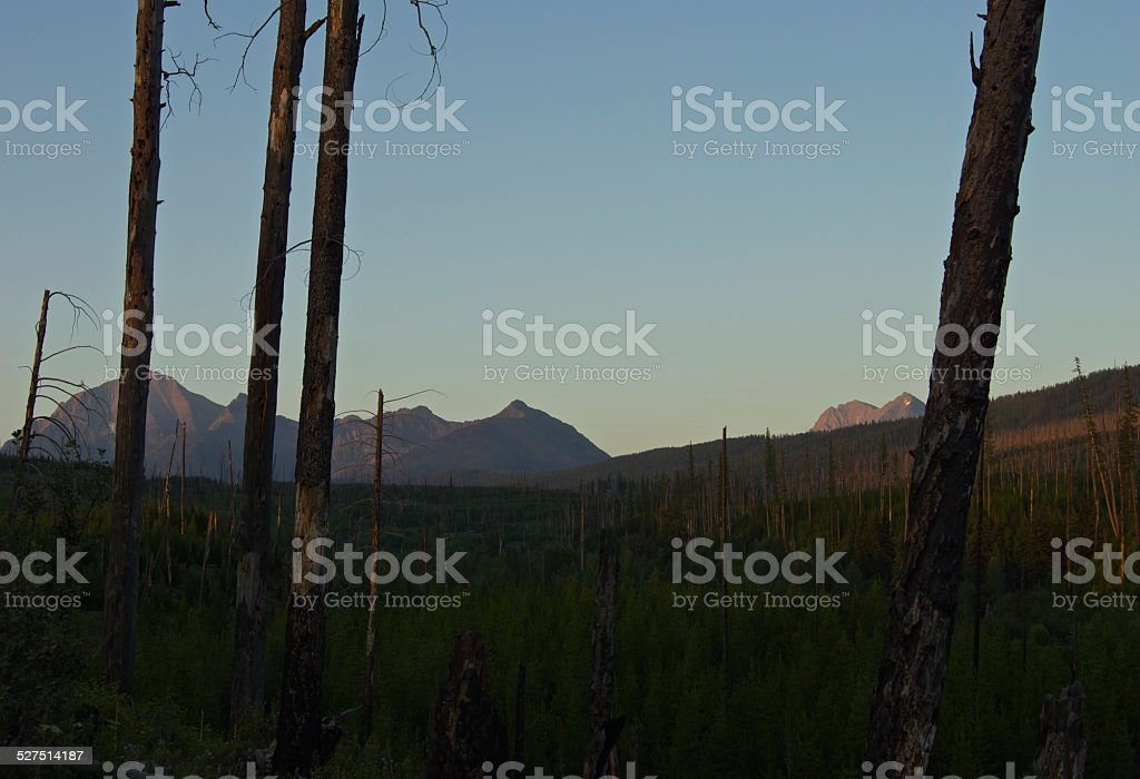 Rainbow Peak Sunset stock photo