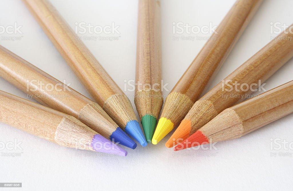 Rainbow pencils royalty-free stock photo