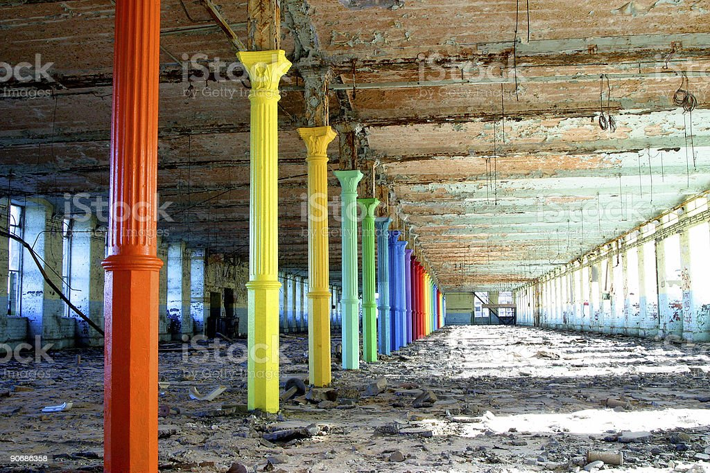 rainbow pillars royalty-free stock photo