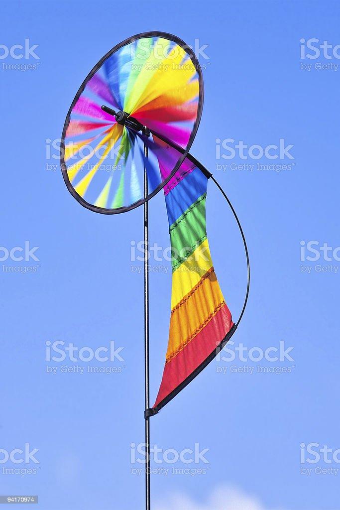 Rainbow Pinwheel royalty-free stock photo