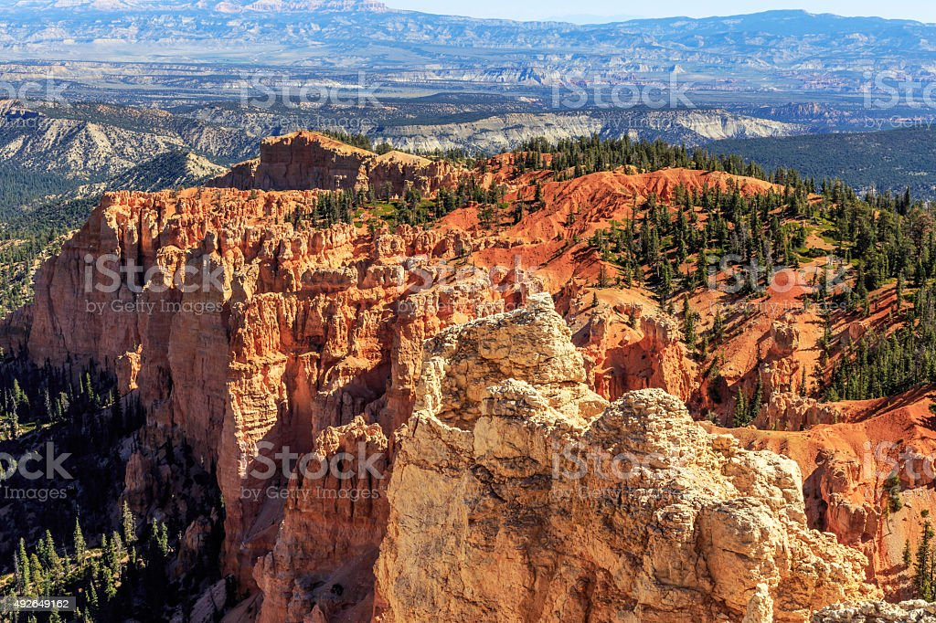 Rainbow Point in Bryce Canyon National Park stock photo