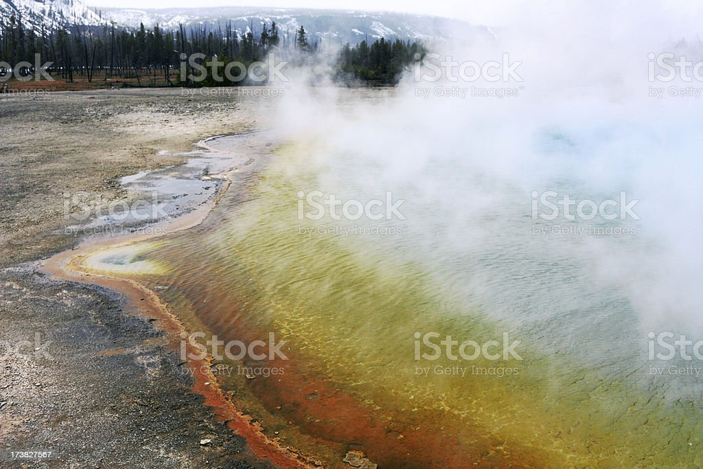 Rainbow Pool in Yellowstone royalty-free stock photo