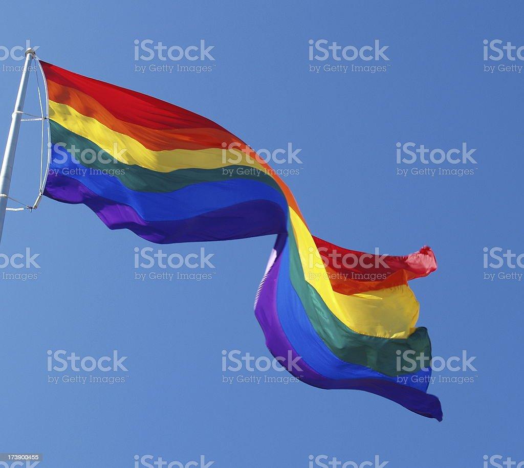 Rainbow Pride Flag stock photo