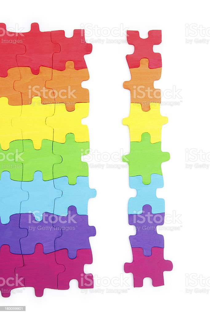 Rainbow Puzzle Strip royalty-free stock photo