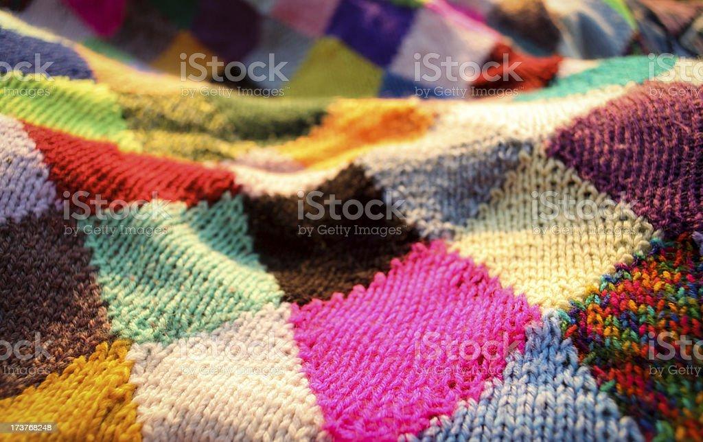 Rainbow Quilt stock photo