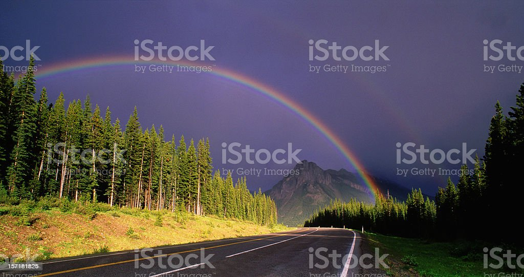 Rainbow Road in the Rockies royalty-free stock photo