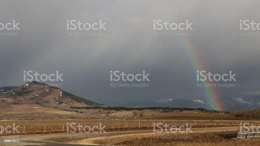 Rainbow Road stock photo