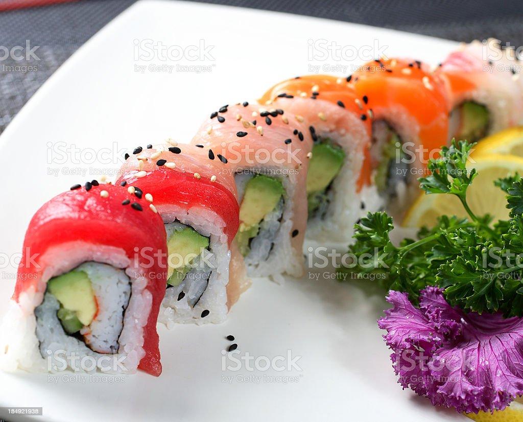 Rainbow Rolls stock photo