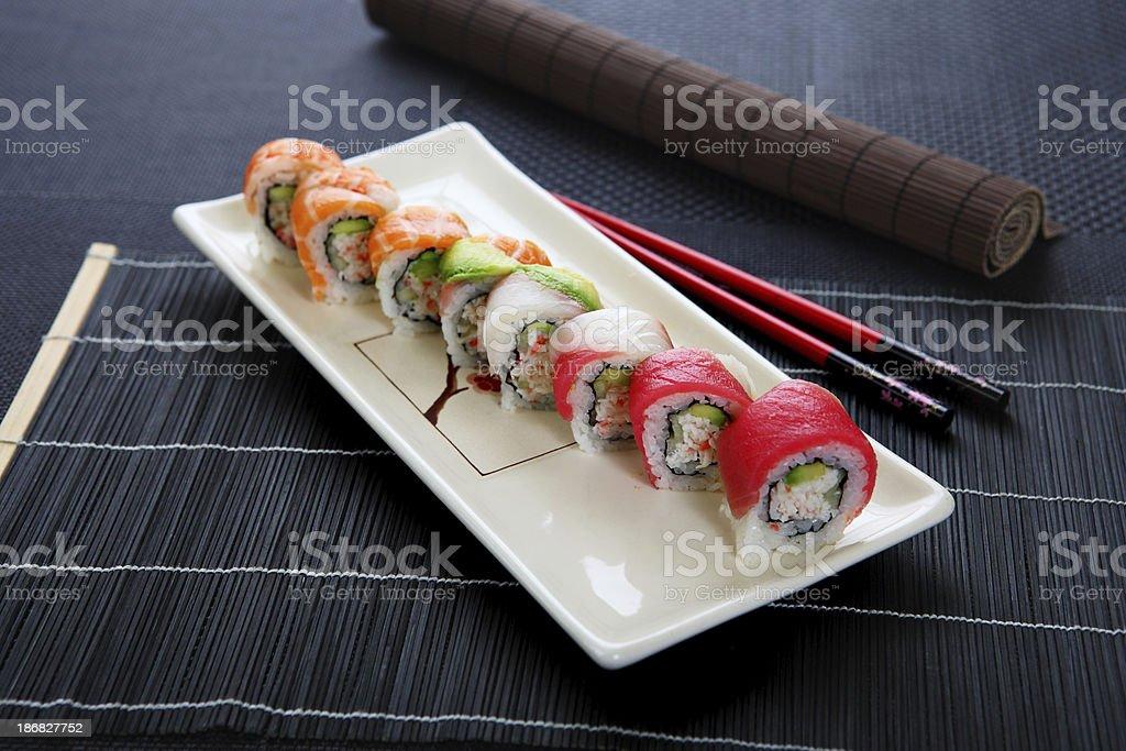 rainbow rolls royalty-free stock photo