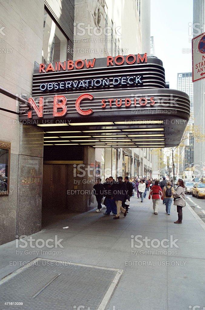 Rainbow Room, NBC Studios stock photo