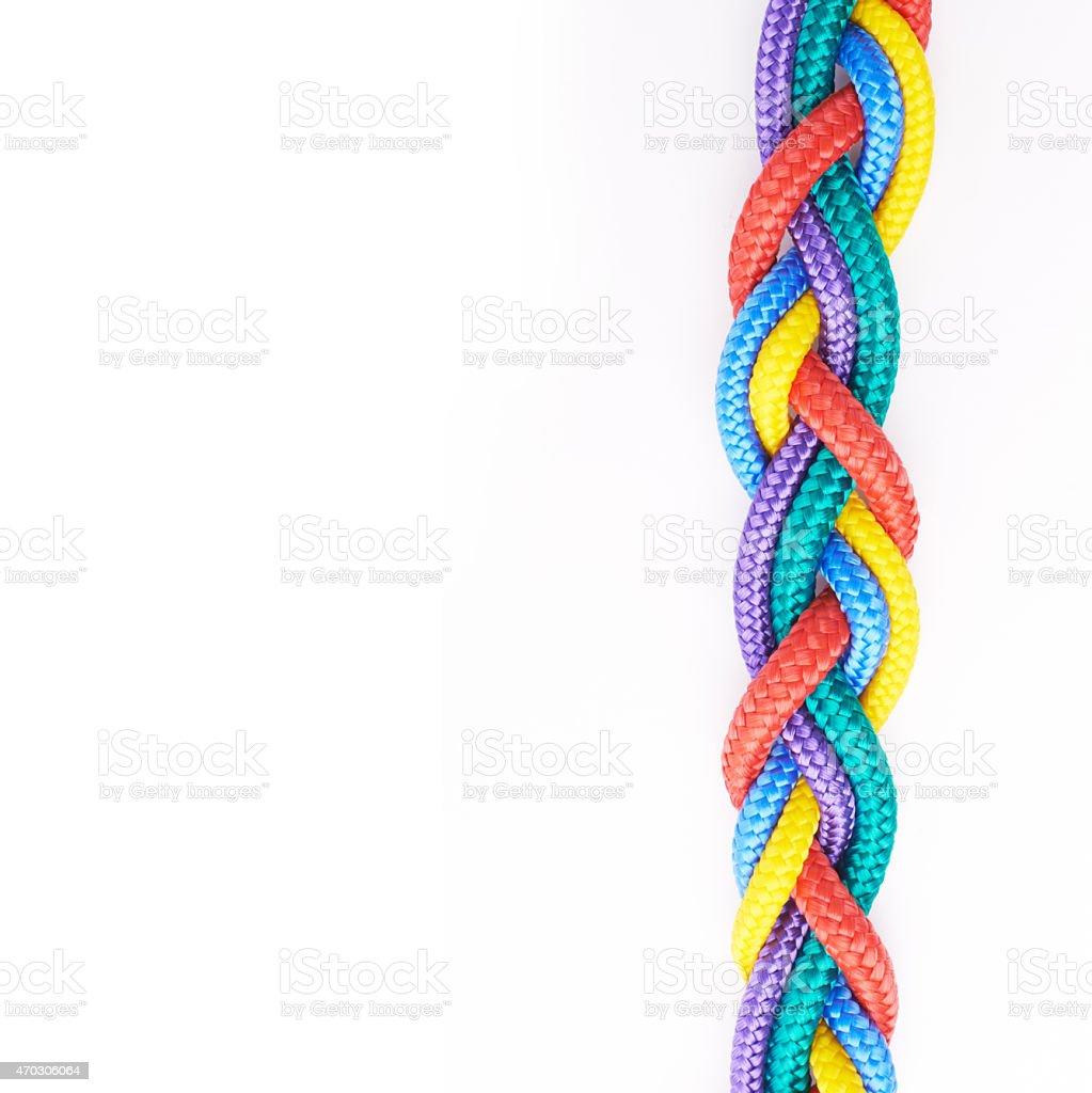 Rainbow ropes stock photo