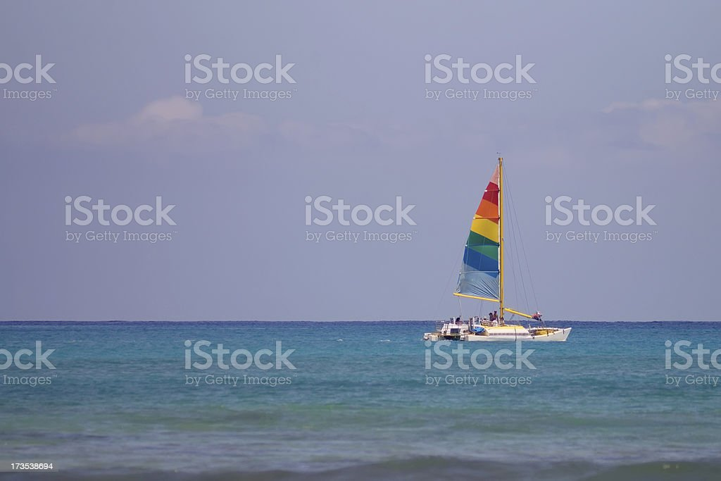 Rainbow Sail royalty-free stock photo