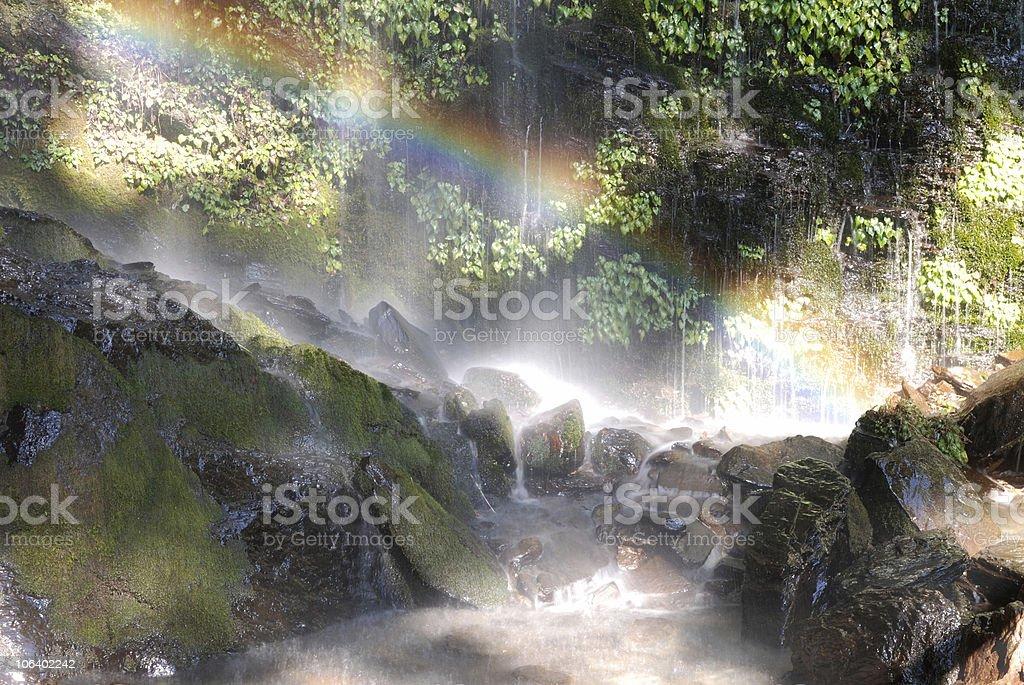 rainbow scenery. stock photo
