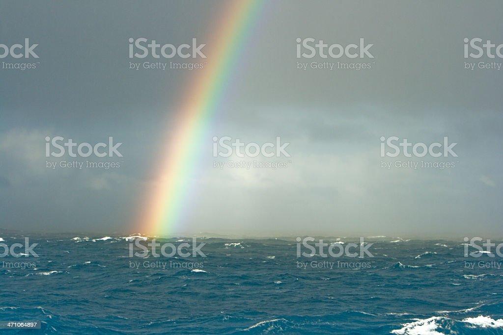 Rainbow Seascape Drake Passage royalty-free stock photo