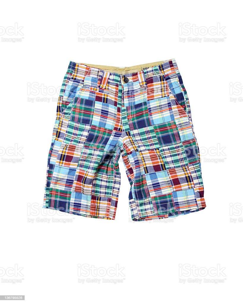 Rainbow Shorts on White Background royalty-free stock photo