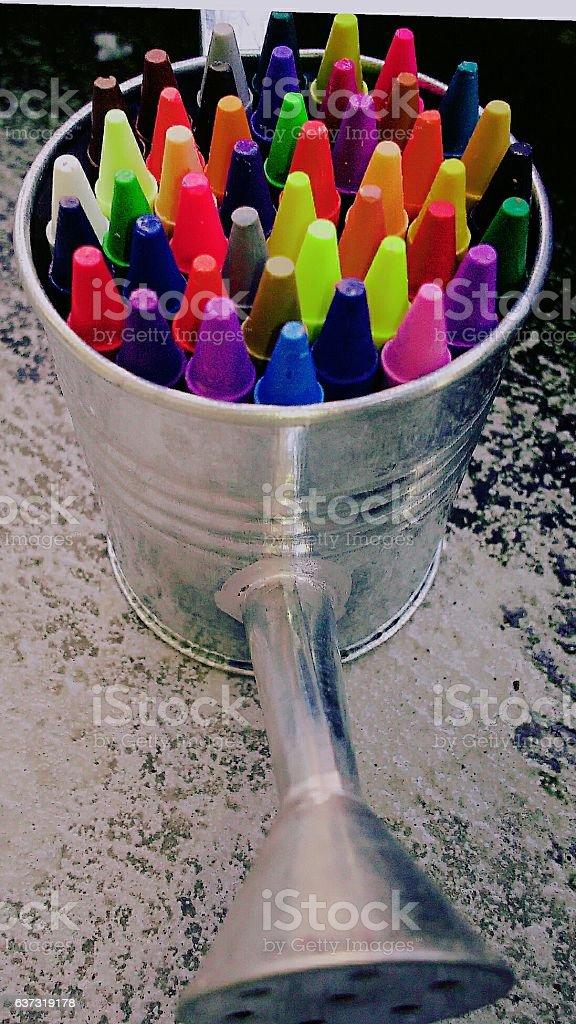 Rainbow shower stock photo