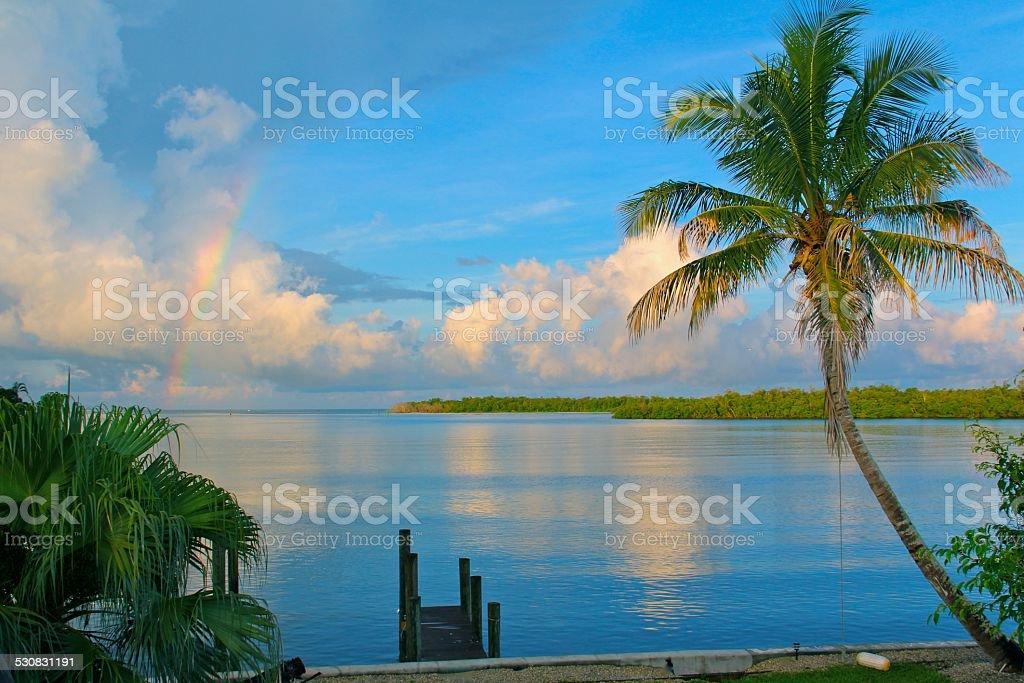 Arc-en-ciel dans les îles photo libre de droits