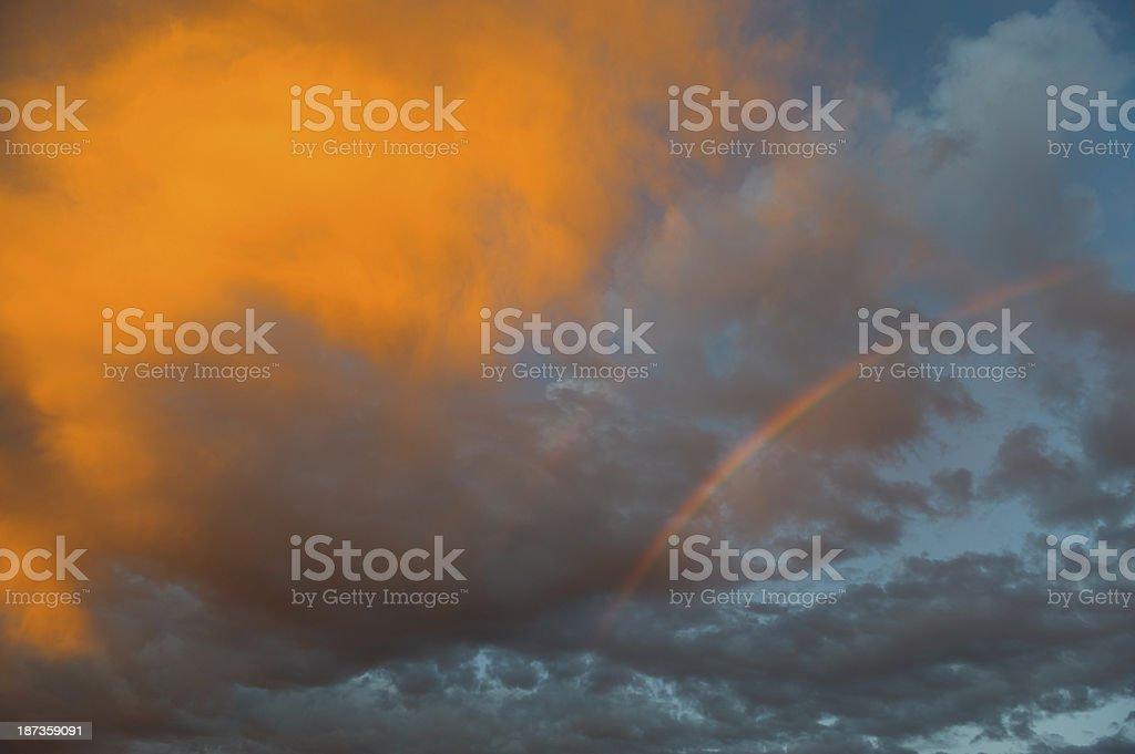 Rainbow sky royalty-free stock photo
