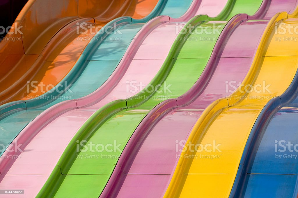 Rainbow Slide stock photo