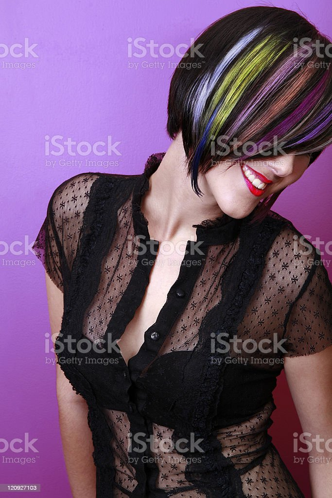Rainbow Smiling royalty-free stock photo