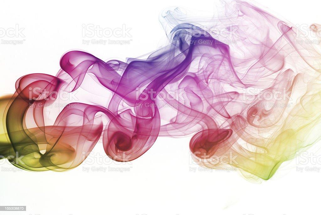 Rainbow smoke royalty-free stock photo