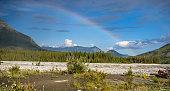 Rainbow splitting the sky