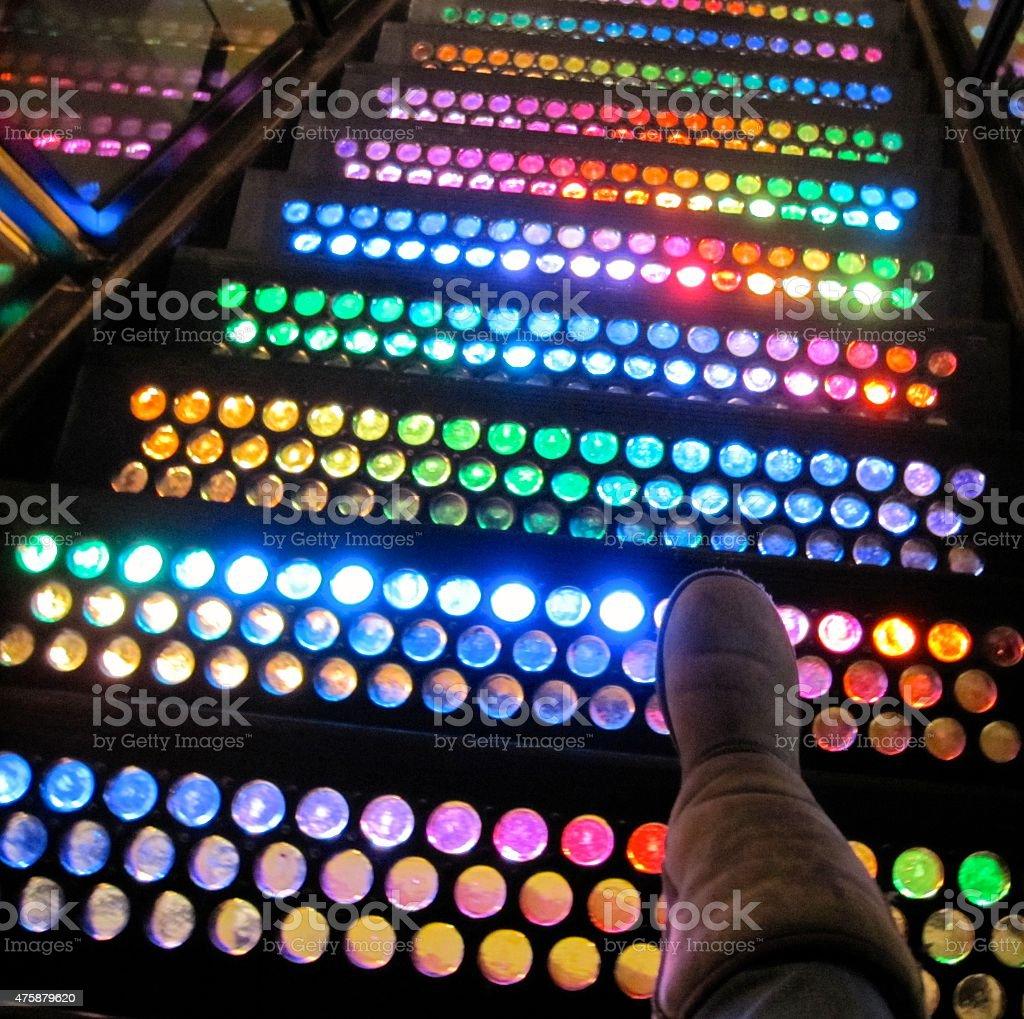 Rainbow Staircase stock photo