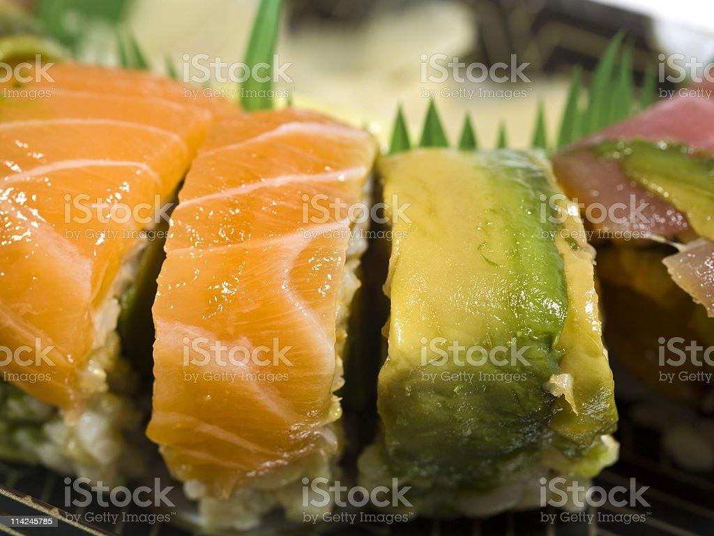 Rainbow Sushi Roll royalty-free stock photo
