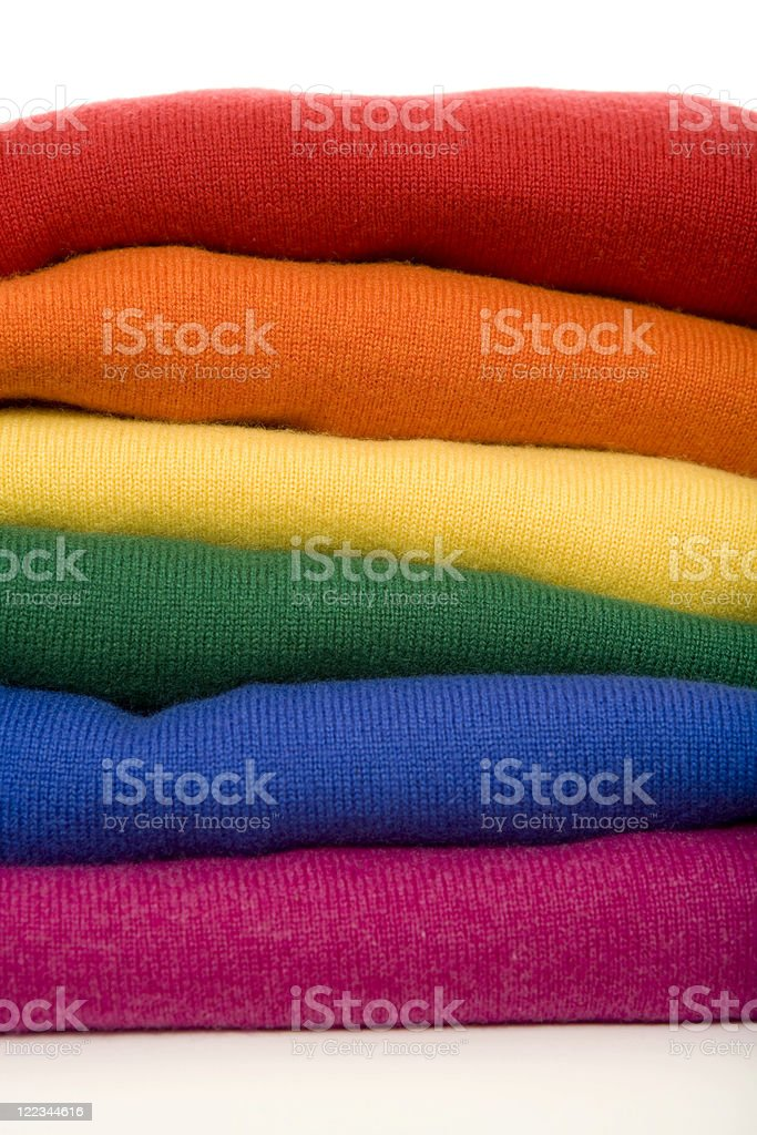 Rainbow Sweaters royalty-free stock photo
