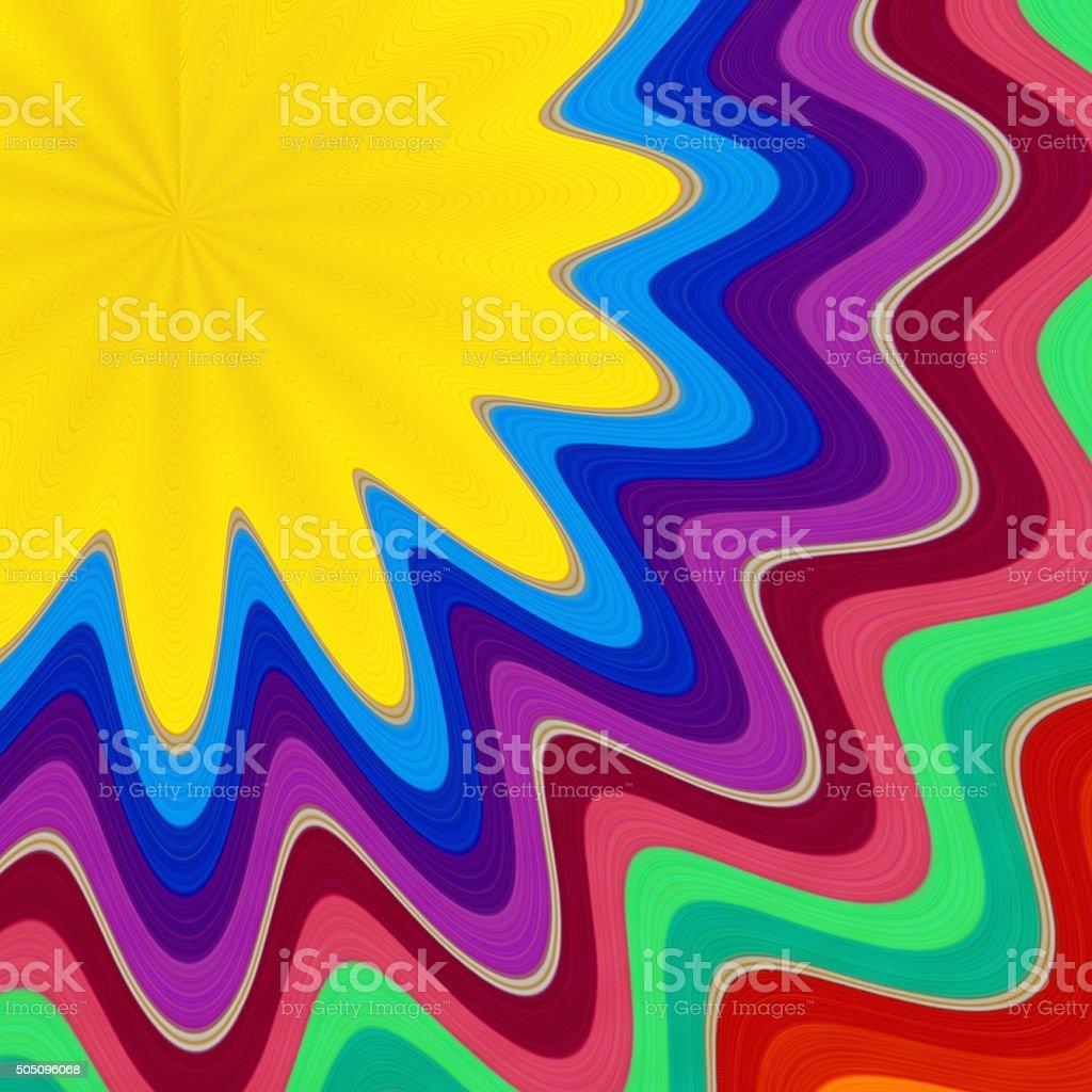 Rainbow Swirl Abstract Background stock photo