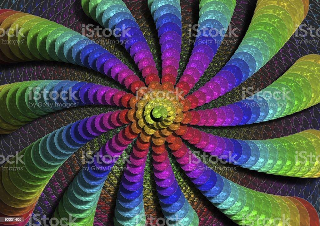 rainbow swirl royalty-free stock photo