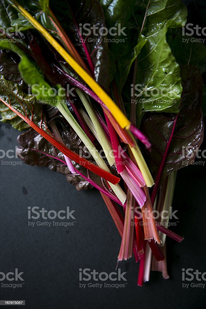 Rainbow Swiss Chard royalty-free stock photo