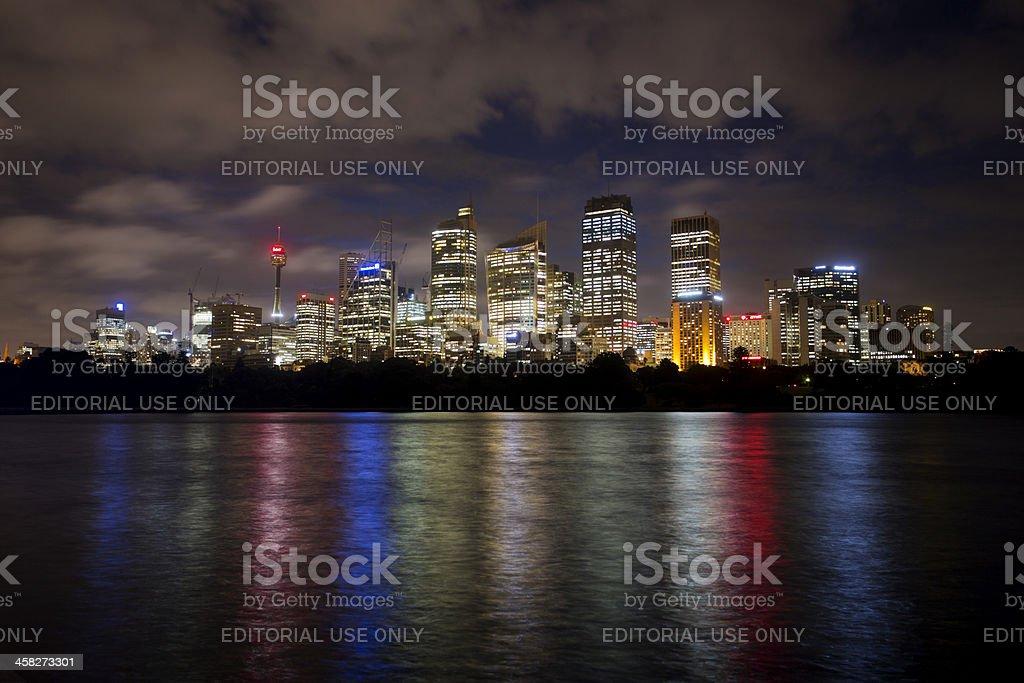 Rainbow Sydney Skyline royalty-free stock photo