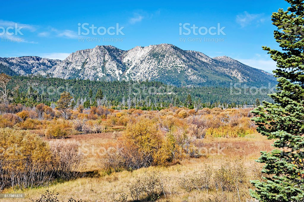 Rainbow Trail on the  Western side of Lake Tahoe stock photo