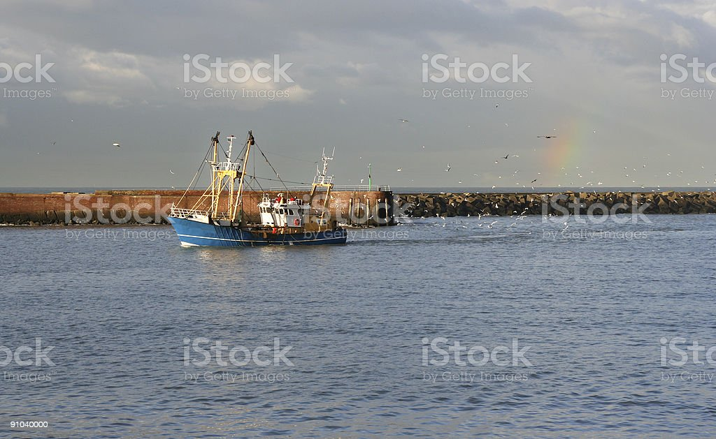 Rainbow Trawler stock photo