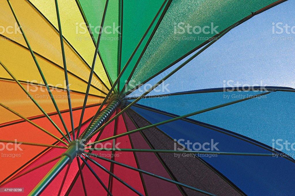 Rainbow Umbrella 2 royalty-free stock photo