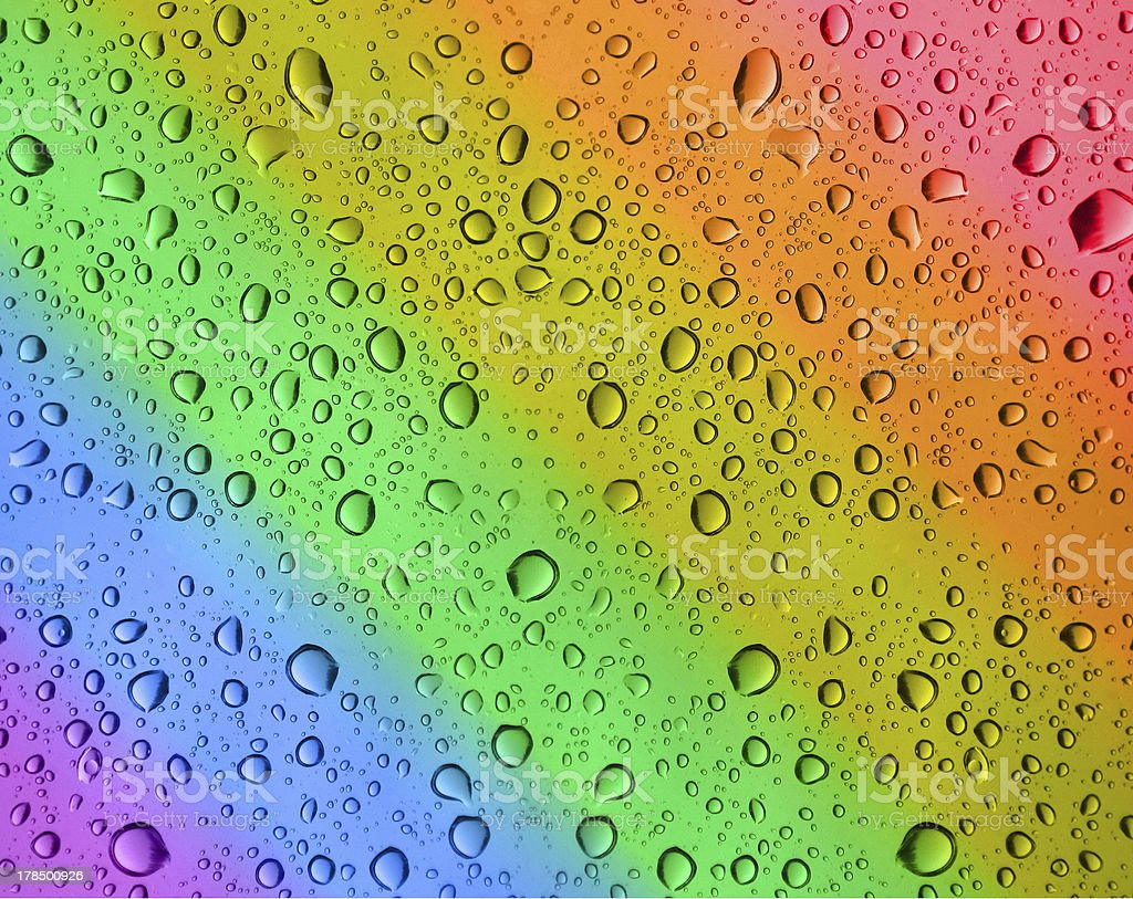 rainbow water drops royalty-free stock photo