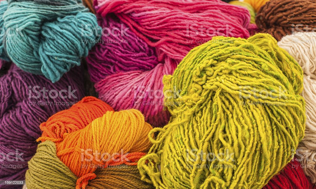 Rainbow Wools royalty-free stock photo