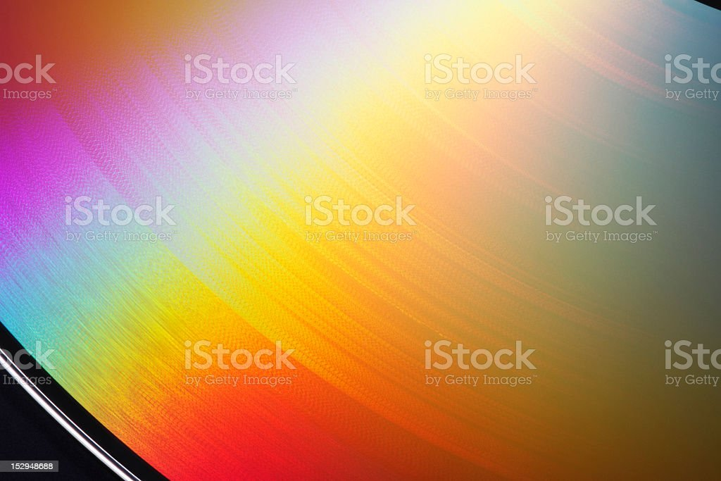 Rainbow-colored disk stock photo