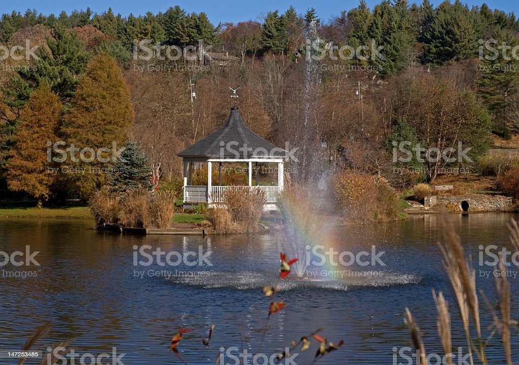Rainbows and Fountains royalty-free stock photo