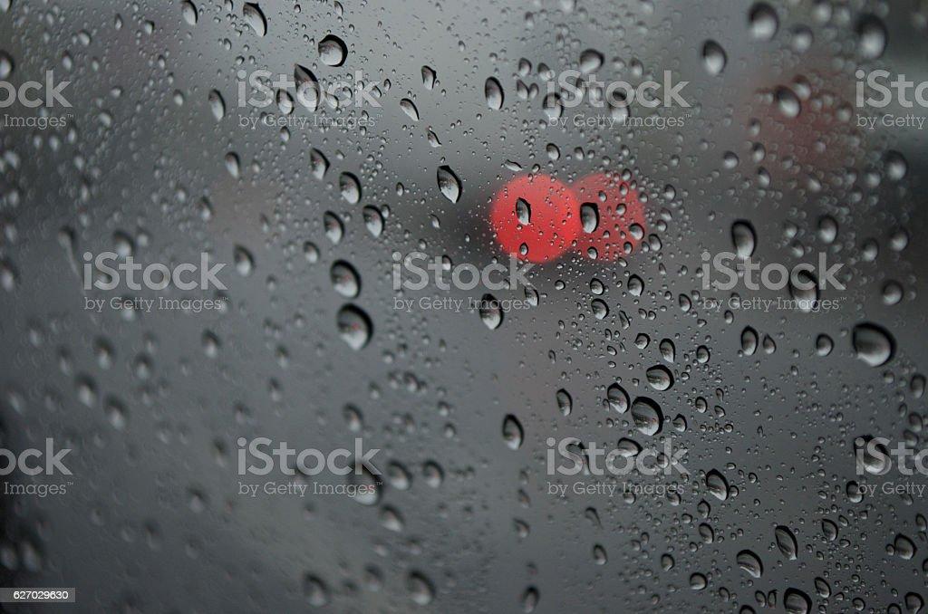 Raindrop to glass stock photo