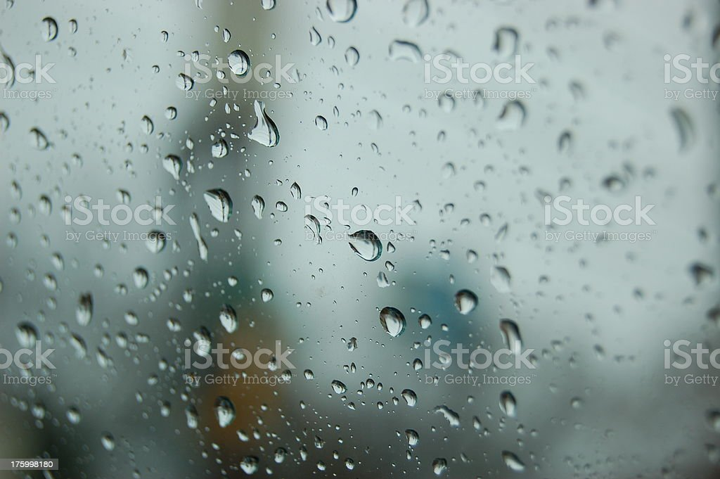 Raindrops On A Window royalty-free stock photo