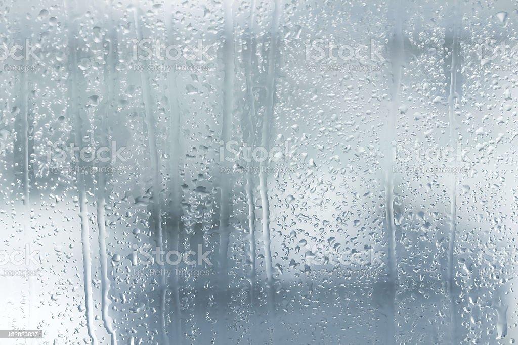 Raindrops on a window stock photo