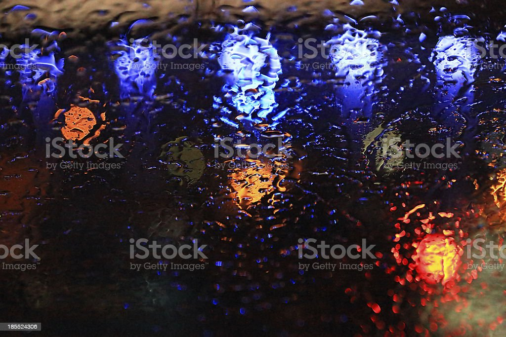 Raindrops on the glass royalty-free stock photo