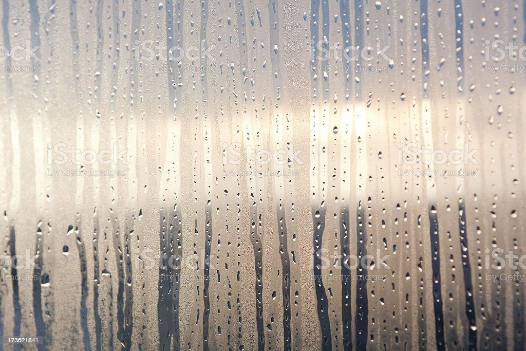 raindrops on window royalty-free stock photo