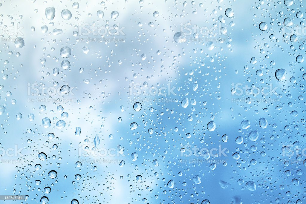 Raindrops on Window royalty-free stock photo