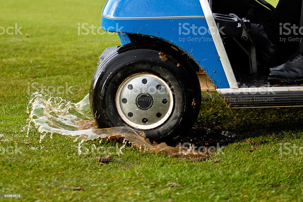 Rained Out Golf Day stock photo