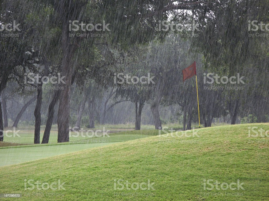 rained out golf stock photo