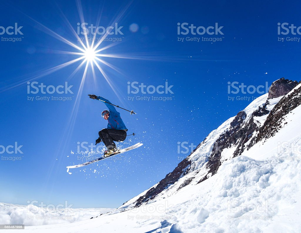 Rainier Ski Jump stock photo