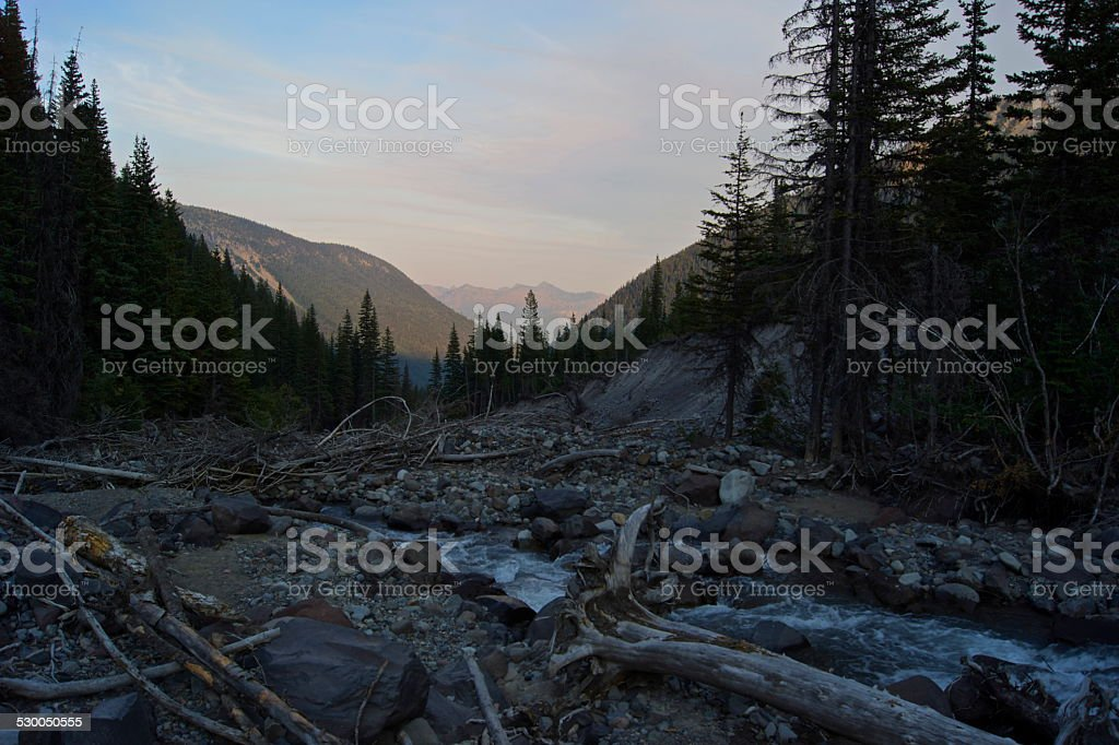 Rainier's Inter Glacier River stock photo